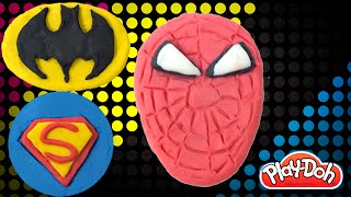 PlayDoh Superheroes | How to Make Superman Spiderman Batman from Play Doh