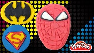 PlayDoh Superheroes | How to Make Superman Spiderman Batman from Play Doh