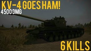 KV-4 Goes Ham! | 4570 DMG 6 Kills | WoT - XBox One