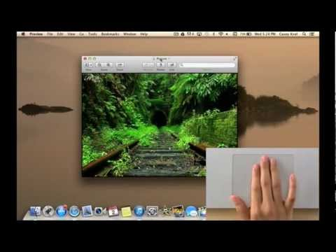 How To Use MacBook Pro/Air TrackPad Gestures (Touch Pad) OS X Mountain Lion