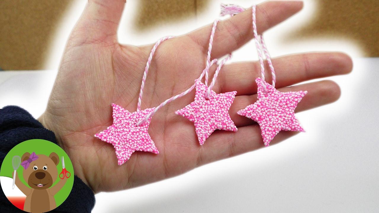 Prosty pomysł na gwiazdki świąteczne z masy piankowej | dekoracja choinkowa