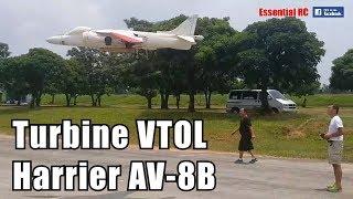 AMAZING Gas Turbine powered RC Harrier AV-8B VTOL JET (Skymaster Jets)