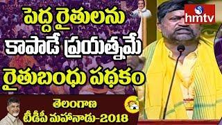 L.Ramana Talks on Rythu Bandhu Scheme Telangana TDP Mahanadu 2018  | hmtv