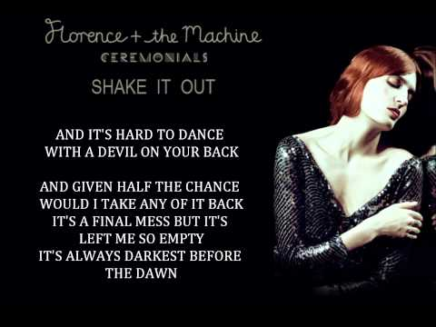 Florence + The Machine - Shake It Out (lyrics) video
