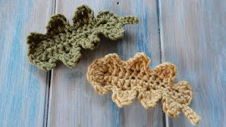 How to Crochet an Oak Leaf