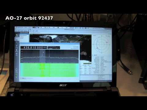 GQRX first on the air test using the Funcube Dongle and AO-27
