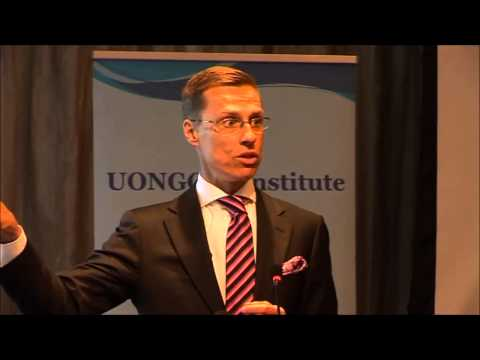 Minister Alexander Stubb on Development Cooperation and Business in Africa