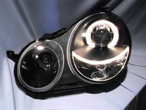 angel eye scheinwerfer vw polo 9n black by sw tuning youtube. Black Bedroom Furniture Sets. Home Design Ideas