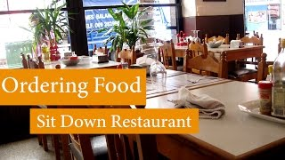 English Conversation: Ordering Food- Sit Down Restaurant