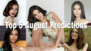 Miss Grand International 2018 Top 5 August Predictions
