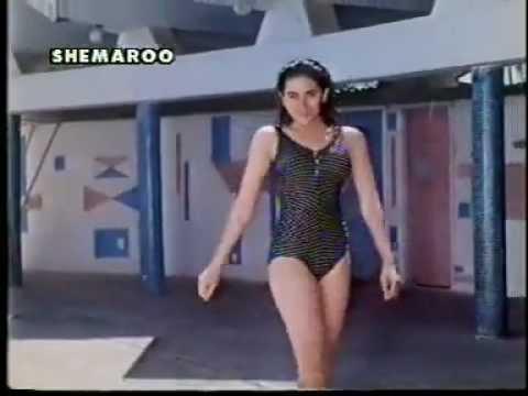 karishma kapoor in a sexy blue swimsuit - prem qaidi (high quality) thumbnail