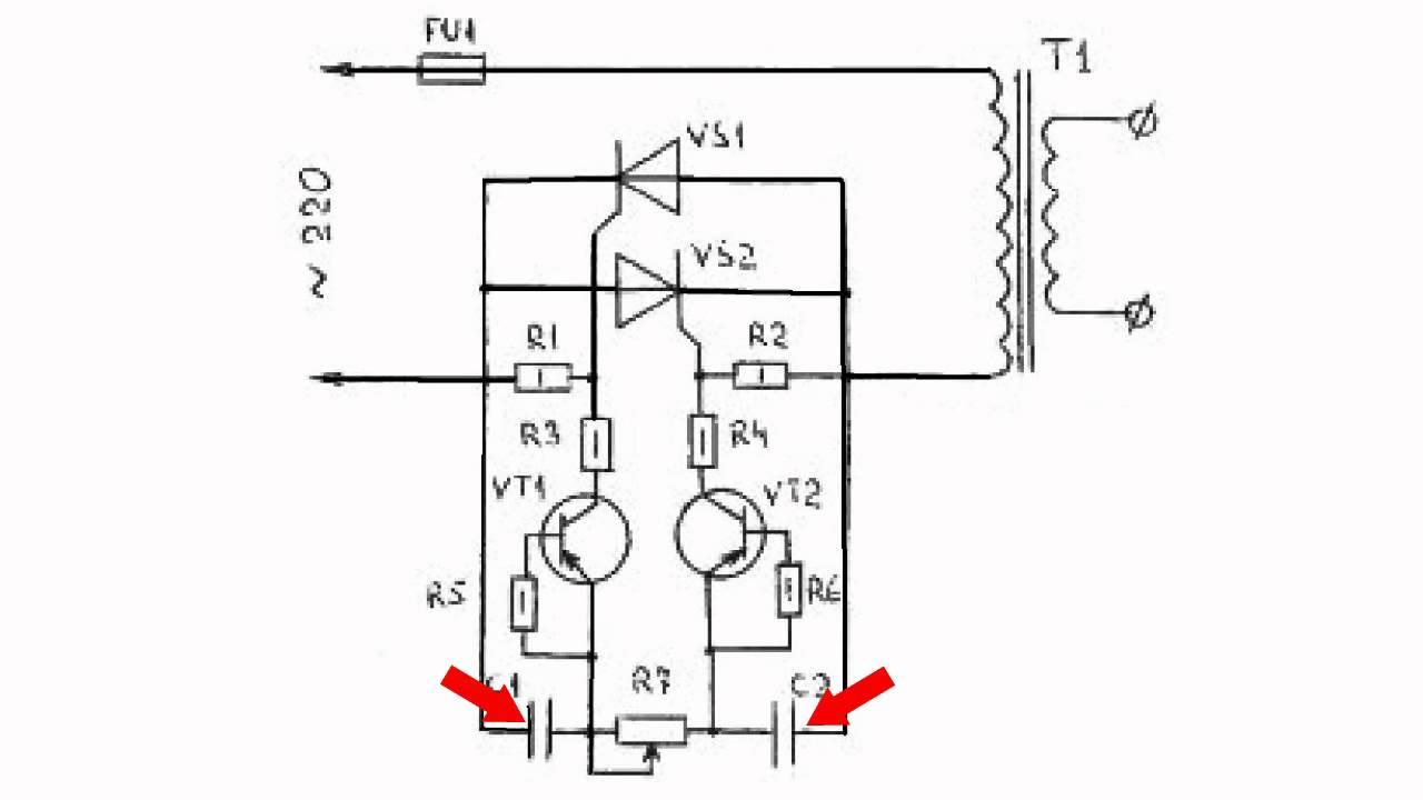 схема симисторный динисторный регулятор скорости
