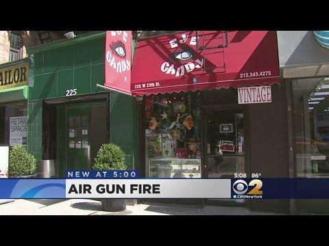 Air Gun Leaves Glass Shattered