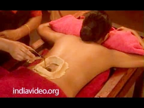 Ayurveda therapy for backpain Kativasti Kerala India