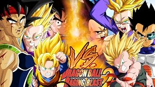 LA FAMILIA DE GOKU VS LA FAMILIA DE VEGETA - DRAGON BALL RAGING BLAST 2