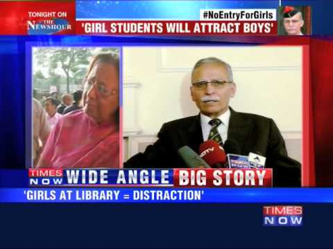 No Entry For Girls at AMU library