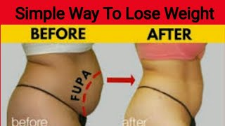 Simple Way To Lose Weight   No Diet  No Workout   Flat Belly Drink   Lose Weight   Burn Belly Fat