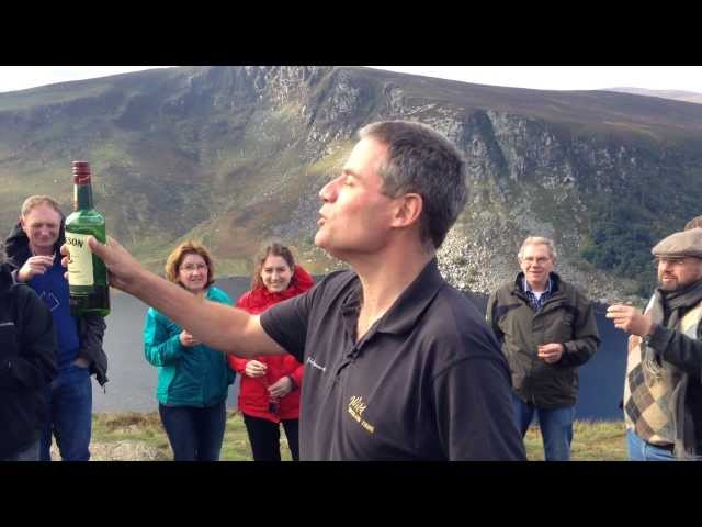 Sláinte! - a toast to Peace in Ireland on the Wild Wicklow Tour (Jameson of course)