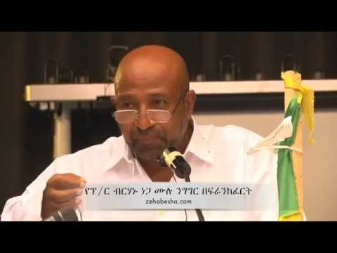 Dr. Birhanu Nega's Full Speech At Patriotic Ginbot 7 Fundraising Event Frankfurt