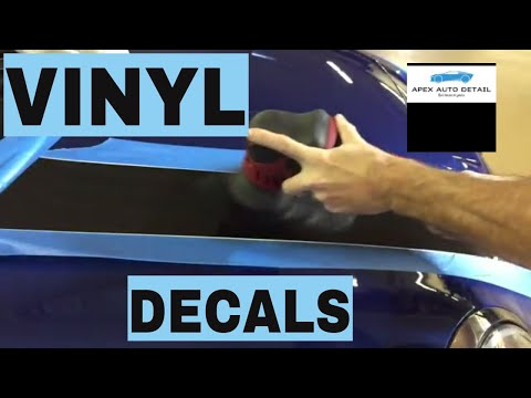 How to Restore Vinyl Decals, Stripes and Graphics!!! Liven them up...or restore completely!!!