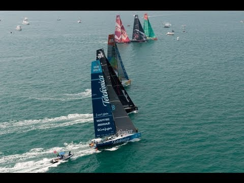 Volvo Ocean Race - Sanya Leg 4 Start Live Replay 2011-12