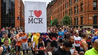 Thousands turn out for  Manchester memorial run
