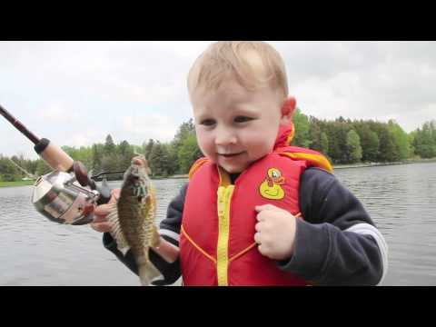 0 Funny Boy Fishing   Catches His First FISH!