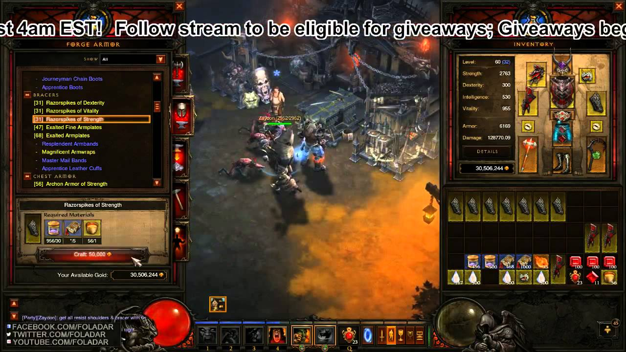 Diablo 3 crafting session 100 boa items 1 2 youtube for Diablo 3 crafting items