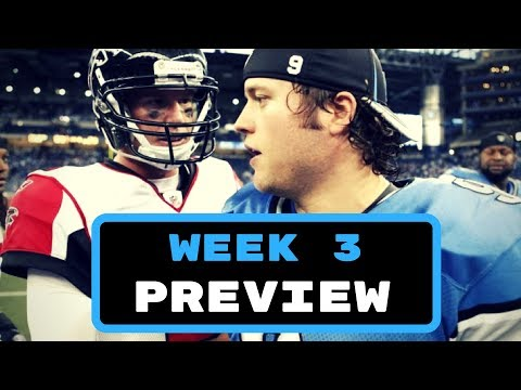 NFL Week 3 Preview and Predictions | NFL Picks 2017