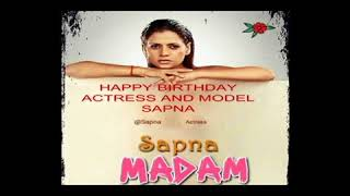 HAPPY BIRTHDAY TO ACTRESS  MADAM SAPNA SAPPU FROM DSA BOLLYWOOD CHANNEL