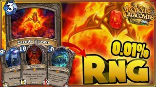 Hearthstone - 0.01% RNG, WTF Moments - Kobolds and Catacombs Funny Rng Moments