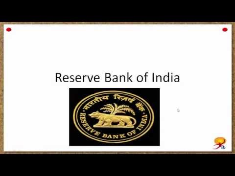 History and Structure of Reserve Bank of India