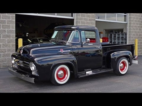 1956 Ford F100 Custom Cab Pickup V8 - YouTube