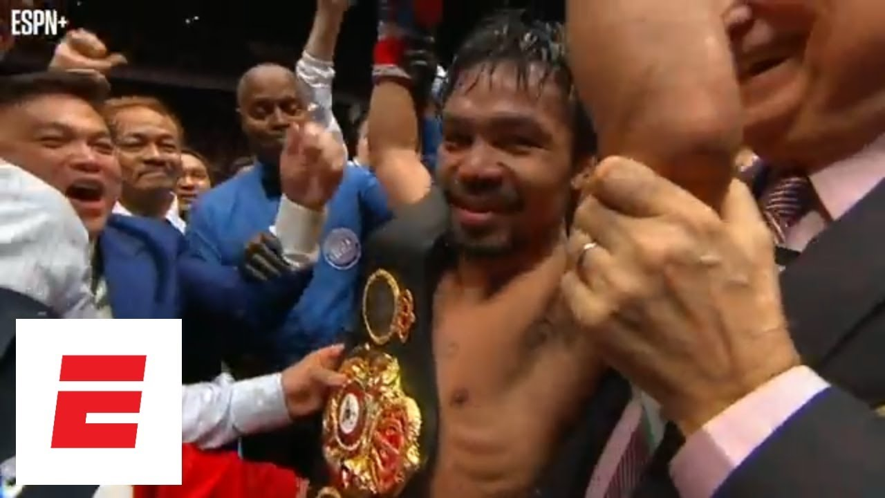 All the hype around Manny Pacquiao's return to the ring for TKO win vs. Lucas Matthysse | ESPN