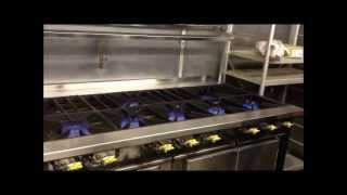 Commercial Cooker Range - 9 Burner Flame