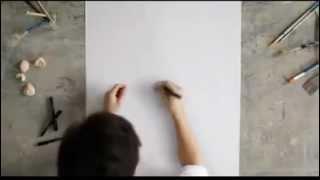 Tuyệt kỹ vẽ tranh chân dung với một nét bút