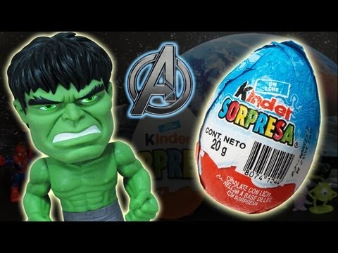 Kinder Surprise Chocolate Avengers Hulk Buzz Lightyear Toy Story Batman Superman Spiderman Monsters