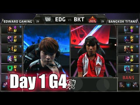 Edward Gaming vs Bangkok Titans   Day 1 Game 4 Group C S5 World Championship 2015   EDG vs BKT D1G4