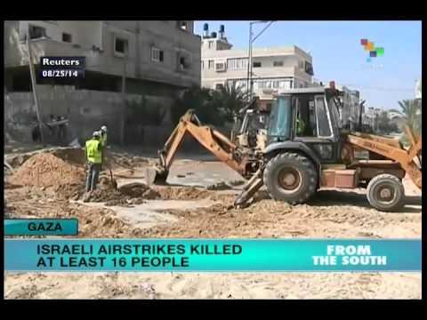 Israeli air strikes kill at least 16 in Gaza