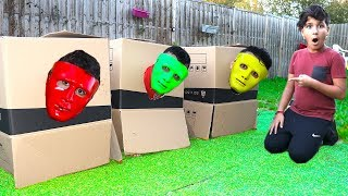 children play with masks color funny videos for kids, les boys tv
