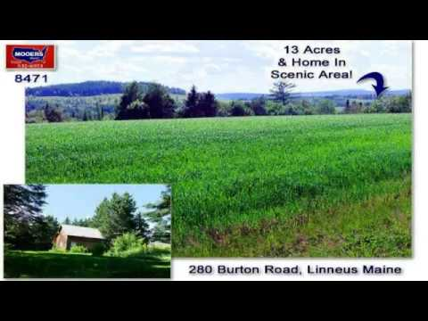 Real Estate Listings In Maine | Linneus Saltbox Home, 13 Acres Of Land | MOOERS #8471