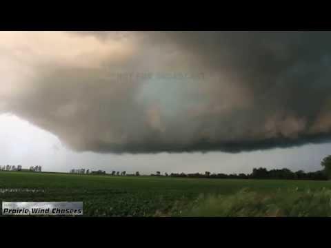 6 27 15 Fairmount, ND Developing & Rain Wrapped Tornado
