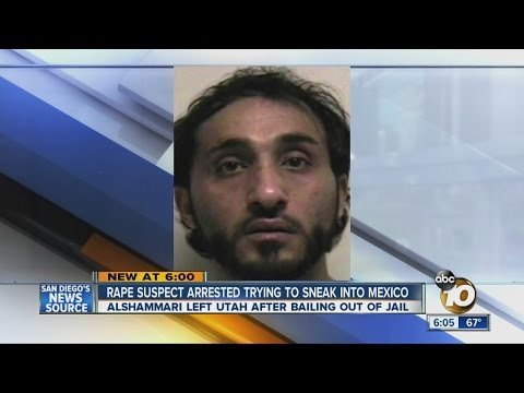 Rape suspect arrested trying to sneak into Mexico
