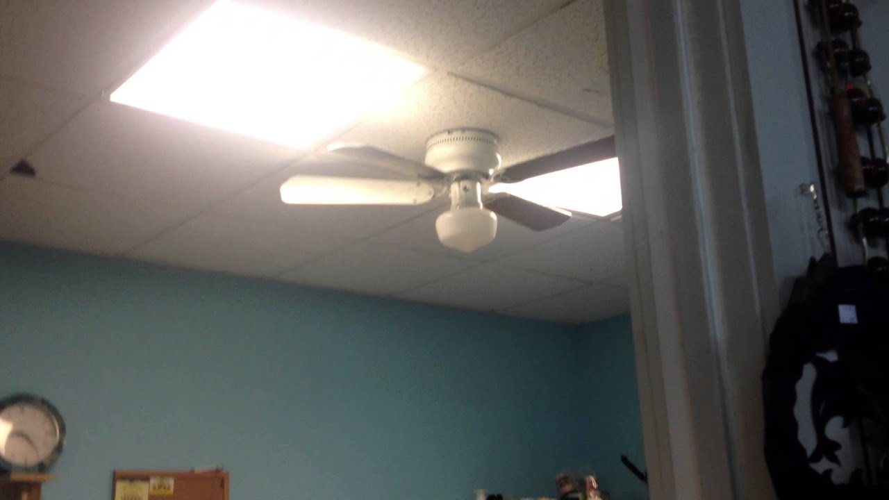 3rd Hampton Bay Littleton Ceiling Fan At Thrift Shop Youtube