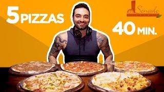 5 pizzas grandes em 40 minutos (~5kg, 10000+ kcal)