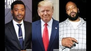 Ray j asking Trump to pardon Suge Knight why thats a SLAP TO BLACK MENKISS KANYE'S ASS