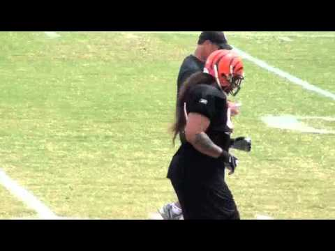 Cincinnati Bengals football 2011 training camp with Andy Dalton as qb