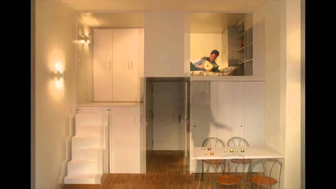 Super Compact Loft Apartment In Madrid Displaying Smart