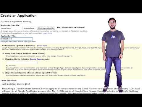 Registrando tu nueva aplicación en Google App Engine (spanish)