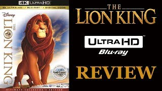THE LION KING 4K Blu-ray Review